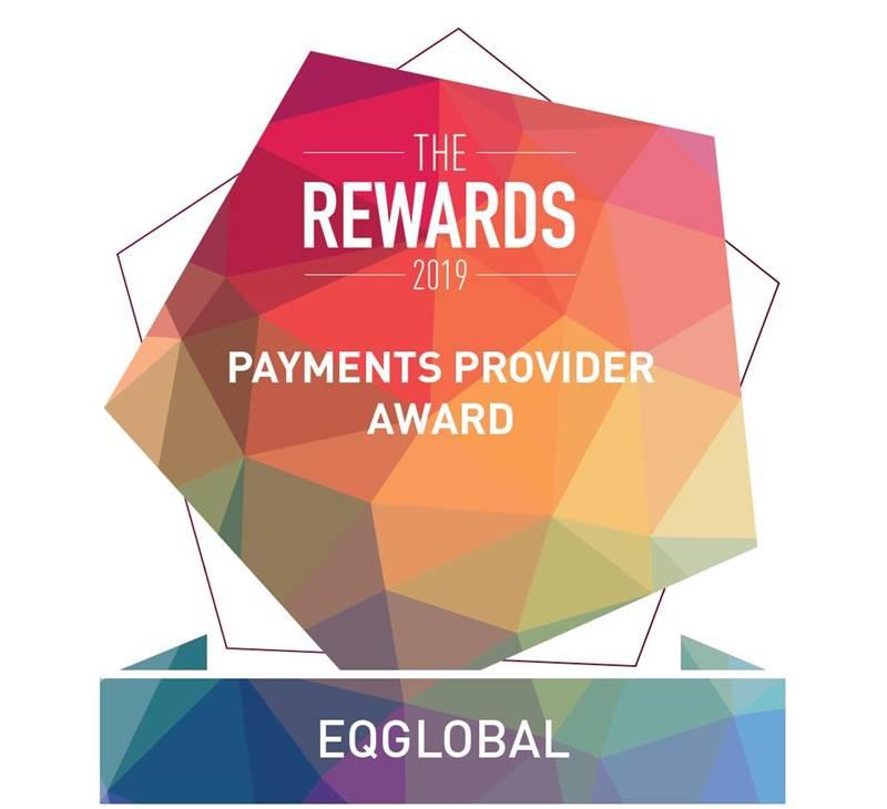 The Rewards 2019 Payments Provider Award Logo Eqglobal