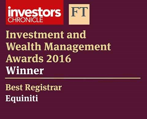 Investors Chronicle and FT - Best Registrar 2016